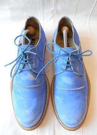 Стильные кожаные туфли dkode р.41-42(27,8 см) португалия