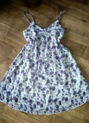 Шифоновое платье, сарафан размер s