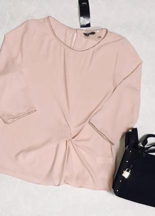 Стильная пудровая блуза f&f
