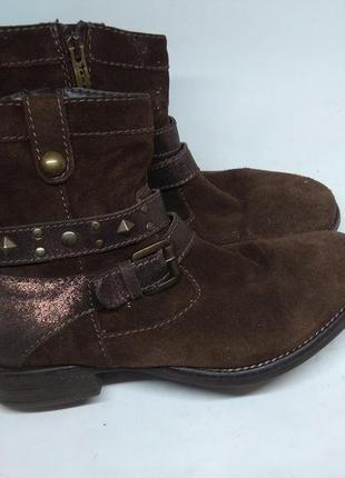 Замшевые деми ботинки 37 размер