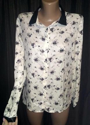 Рубашка zara  с принтом