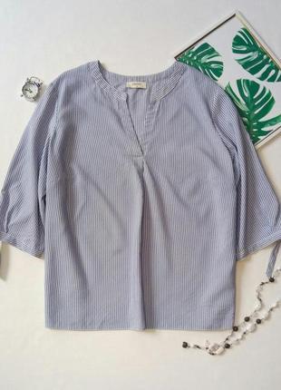 Блуза в полоску,  блуза с завязками на рукавах