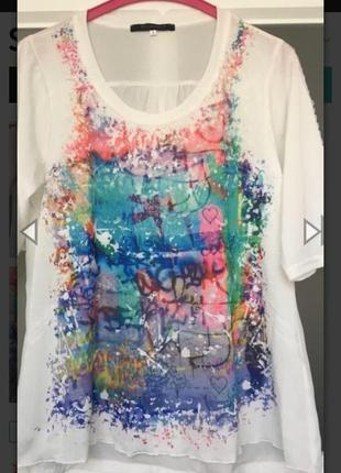 Супер красивая блуза футболка over size  франция