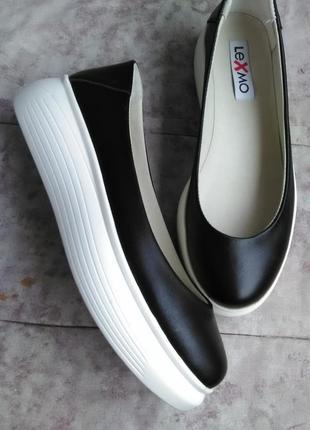 Крутые кожаные туфли на платформе