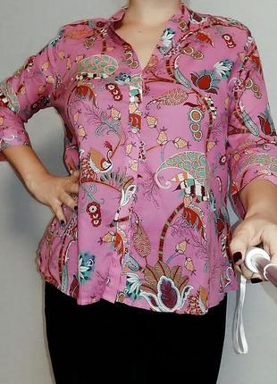 Невесомая рубашка с рукавом 3/4 16-18 размер.
