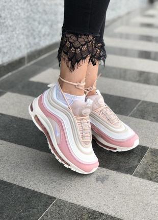 Шикарные женские кроссовки nike air max 97 pink reflective 😍 (весна/ лето/ осень)
