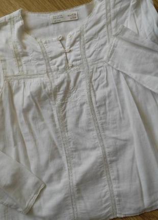 Zara, original. нежнейшая батистовая блуза для девочки