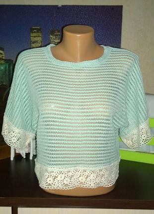 Ажурная кружевная блуза топ свитшот кофточка atmosphere