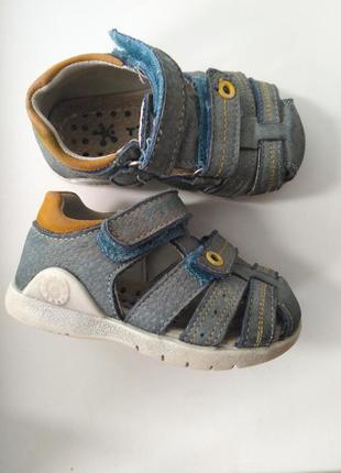 Кожаные ортопедические сандали босоножки 21 р