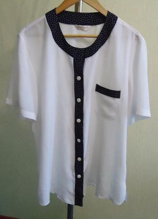 Красивая белая блузка/рубашка от бренда bonmarche, р.50-52