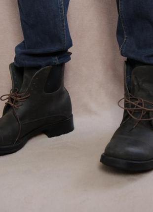 Кожаные ботинки милитари miu miu - prada. оригинал.