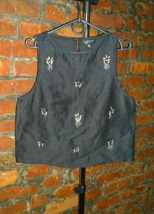 Блуза кофточка топ с вышивкой topshop