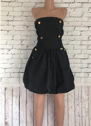 Платье чёрное с открытой спиной