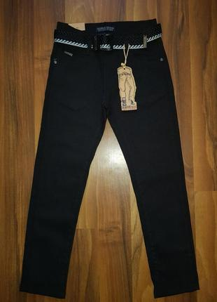 Коттоновые брюки для мальчиков. школьная модель