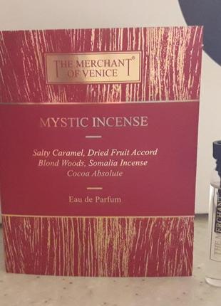 Нишевый аромат the merchant of venice mystic incense, фирменный пробник (2 мл)