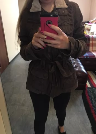 Куртка осенне-весенняя фирмы next коричневая 44 размер (36 европейский)