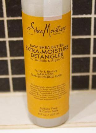 Raw shea butter extra moisture detangler by sheamoisture крем для облегчения расчесывания