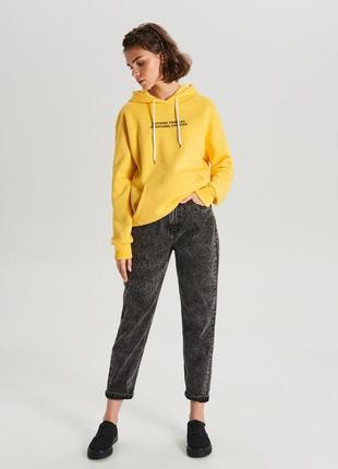 Новые темно-серые mom джинсы на высокой посадке от cropp town