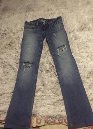 Крутые  джинсы известной американской марки american eagle размер s