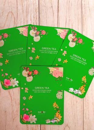 Eyenlip green teaessence mask - тканевая маска с зеленым чаем