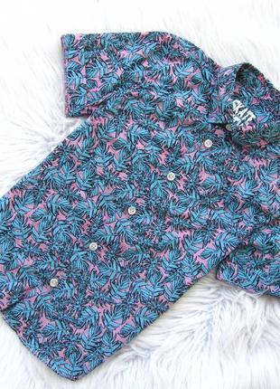 Стильная  рубашка с коротким рукавом f&f