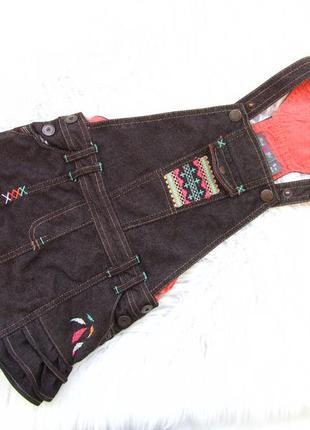 Стильный джинсовый сарафан kiabi.
