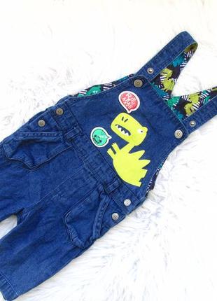 Крутой джинсовый полукомбинезон песочник dpam