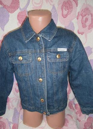 Джинсовая куртка d&g ( утепленная)