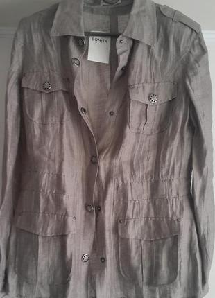 Пиджак-рубашка лён