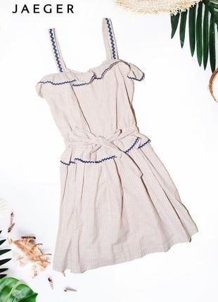 Платье с рюшами и поясом boutique by jaeger