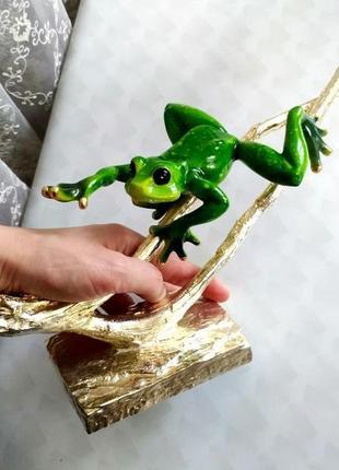 Статуэтка жаба,декор,шикарная