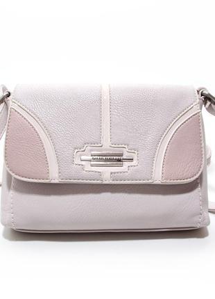 Летняя пудровая сумка кроссбоди через плечо маленькая