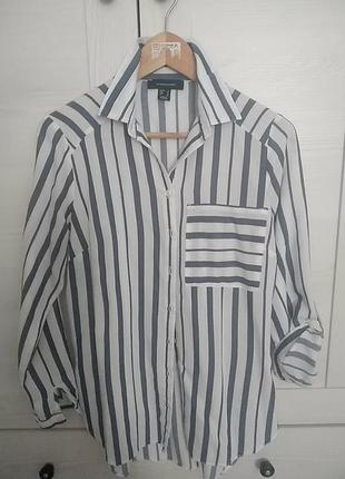 Рубашка в полоску полосатая блуза
