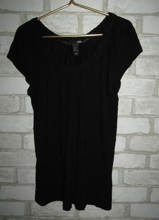 Черная футболка р-р м бренд h&m