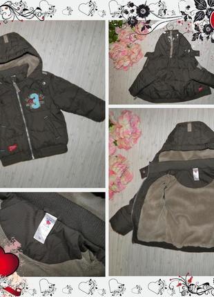Обнова! куртка baby club от c&a (р.86 на 1-1,5года) курточка