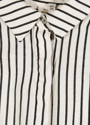 Женская рубашка, белая блуза в полоску, свободная рубашка в полоску5 фото