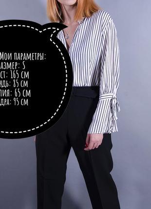 Женская рубашка, белая блуза в полоску, свободная рубашка в полоску6 фото