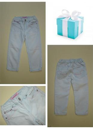Голубый джинсы denim co 2-3 года