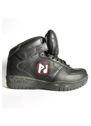 Черные кроссовки, кроссовки унисекс, высокие кроссовки, кроссовки из экокожи