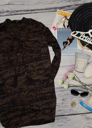 М-l h&m фирменная женская натуральная туника платье с пагонами