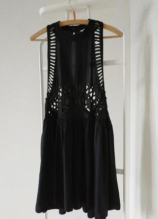 Сарафан черный вискоза платье h&m