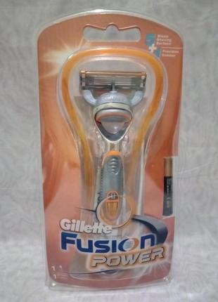 Станок для бритья gillette fusion power станок +один катридж+батарейка