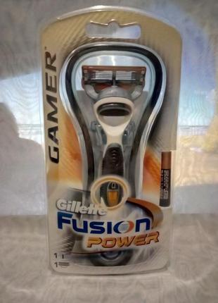Станок для бритья gillette fusion gamer станок +один катридж+батарейка