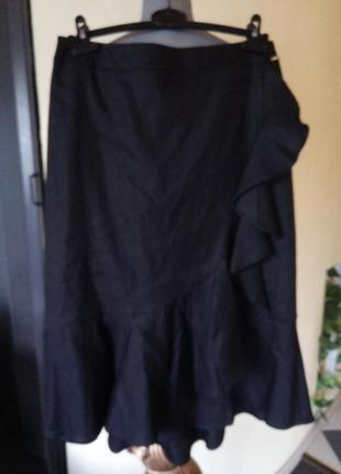 Цена временно сниженаёльняная юбка миди с рюшами