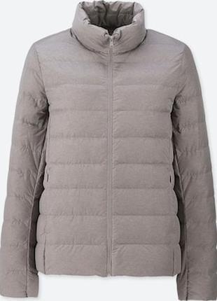 Легкая куртка жакет на пуху uniqlo, складывается в мешочек, размер на бирке l