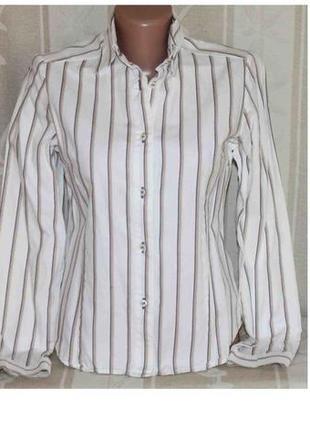 Крутая рубашка в полоску коттон mary line, италия xs
