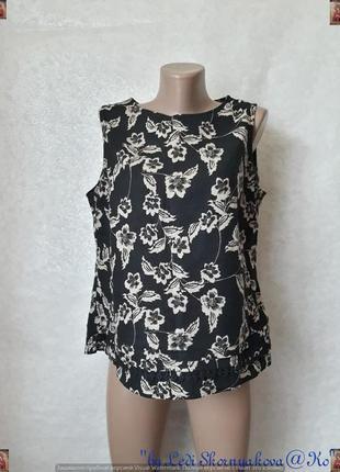 Фирменная bhs блуза 52% лён/48 % вискоза в цветочный принт, размер хл