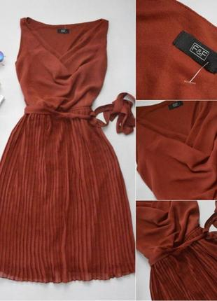 Коричневое платье f&f