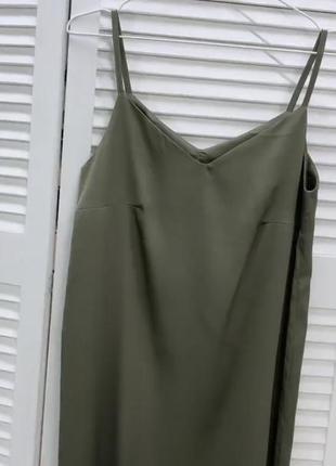 Новое шелковое платье комбинация шелк
