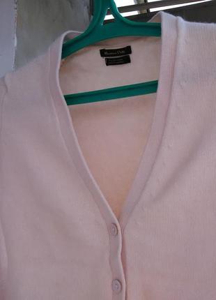 Шикарный нюдовый свитер/кардиган с заплатками на рукавах от massimo dutti2 фото
